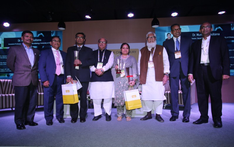 Drs. ABMM Khademul Islam and Munawar Sultana received Samson H Chowdhury Memorial Award for outstanding research