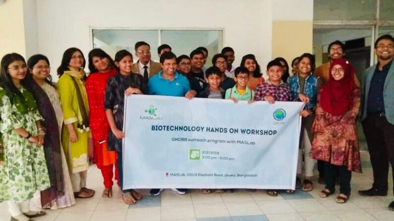 Outreach program with MASLab: Biotechnology hands on workshop